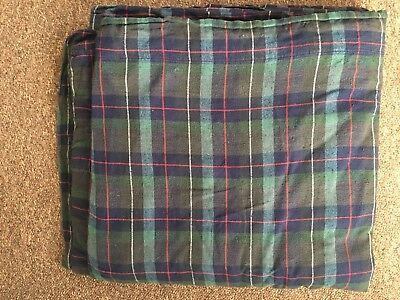 catherine Lansfield brushed cotton tartan check double duvet cover