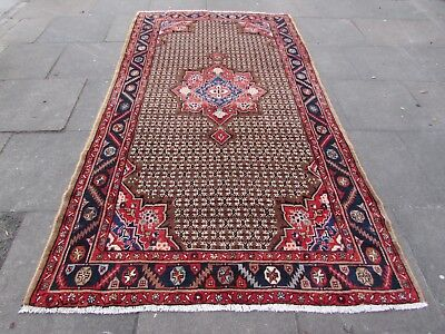 Old Hand Made Traditional Persian Rug Oriental Rug Wool Brown Rug 288x157cm