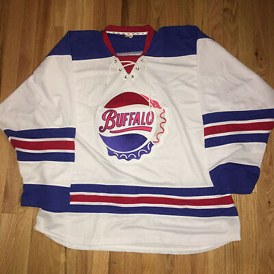 Buffalo Bisons AHL Jersey size 58 2XL Fight strap All sewn vintage AHL