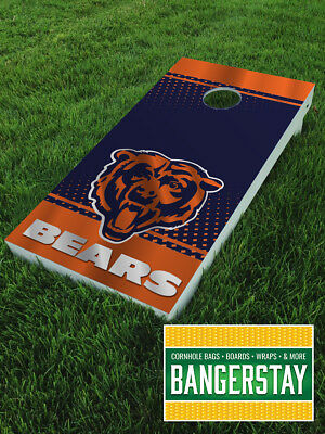 Handcrafted Cornhole Boards with Scorestrip- Chicago Bears (CHB2)