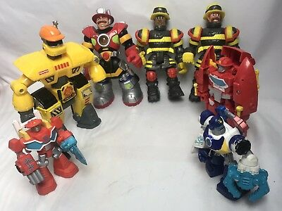 8 Fischer Price Figure: some Rescue Heroes, Mattel, Hasbro