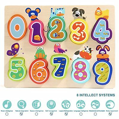 Toddler Kids Educational Puzzle Numbers Wooden Toys 2 3 Years old Boys And Girls