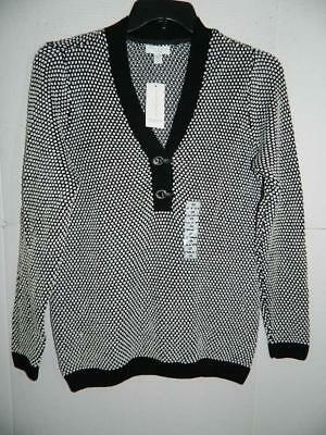 WJ7725 Charter Club Women's Plus Henley Knit V‑Neck Sweater NWT Size 0X MSRP $69