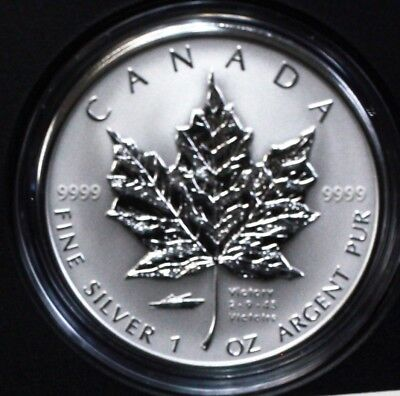 Canada 2005 $5 Pure Silver 1oz Maple Leaf V-J Day Privy proof. 1430