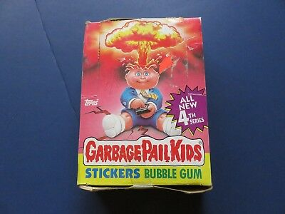 1 Box 1986 Topps Garbage Pail Kids Cards 4th Series; 48 unopened packs
