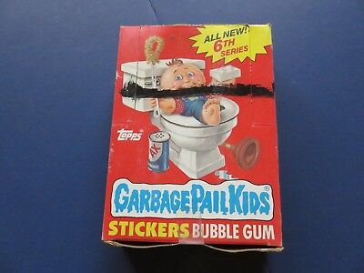 1 Box 1986 Topps Garbage Pail Kids Cards 6th Series; 48 unopened packs