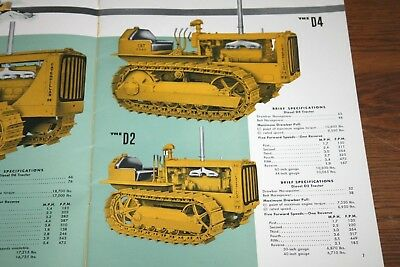 Caterpillar Tractor Full Line of Tractors and Equipment Advertising Sales