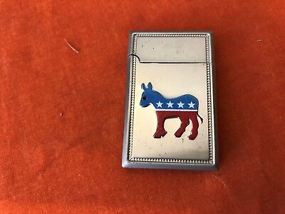 Lot of 4 Collectible Democratic Party Logo Lighters-NEW BUTANE LIGHTERS