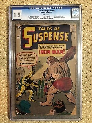 Tales Of Suspense #40 CGC 1.5 First Gold Armor and 2nd Appearance Of Iron Man