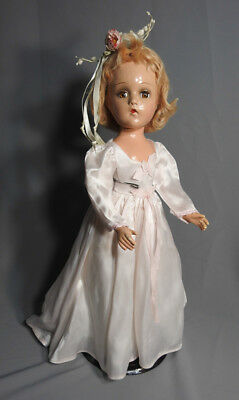 Madame Alexander Vintage Composition Wendy Ann Bride Doll Original Outfit 17""