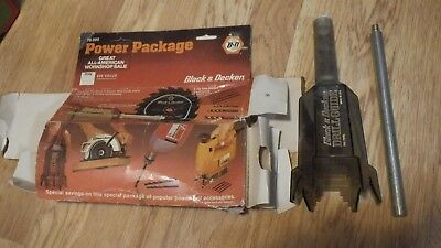 Vintage Black & Decker Power Package 78-999 drill guide, saw blade