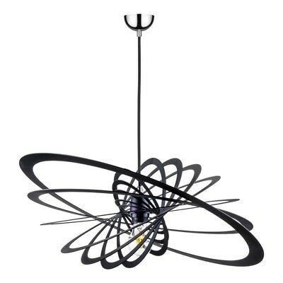 "Paris Prix - Lampe Suspension Design ""planet I"" 60cm Noir"