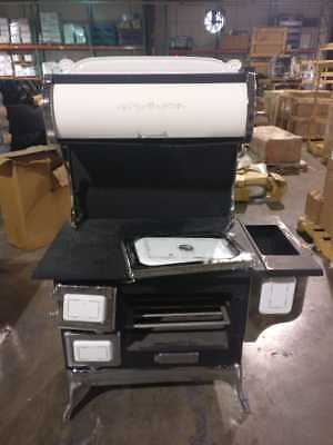 Opportunity!!! Damaged Wood cook stove with oven - Beautiful Great buy !!