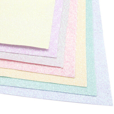 A4 Fine Glitter Faux Vinyl Leatherette Fabric Sheets DIY Handmade Bows Craft