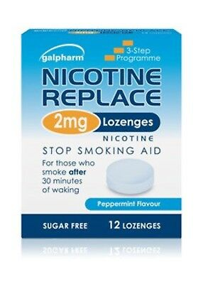 Nicotine Replace 4mg/2mg 12/36 Lozenges Sugar Free Peppermint Flavour Galpharm