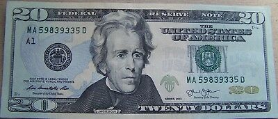 2013 Circulated $20.00 Dollar Federal Reserve Note