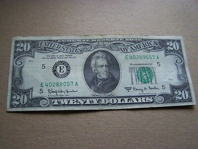1963A Circulated $20.00 Dollar Federal Reserve Note, Richmond