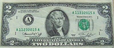 1976 Uncirculated  $2.00 Federal Reserve Note, Boston