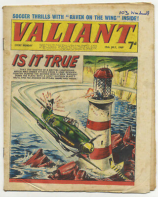 Valiant 19th July 1969 (mid-grade copy) Steel Claw, Mytek, Kelly's Eye