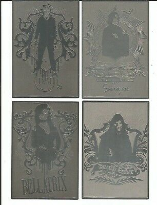 2009 Artbox  Harry Potter and the Half Blood Prince METAL BOX TOPPER SET 4 Cards