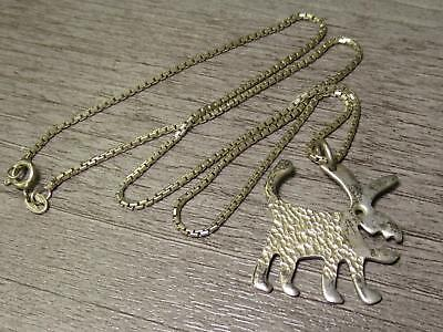 Sterling Silver Jewelry Artist Signed Wild Dog Monster Unique Necklace