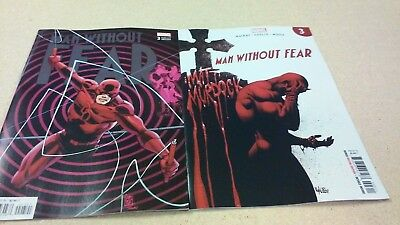 2 comic lot 2019 Man Without Fear # 3 Regular & Variant Covers 1st Prints