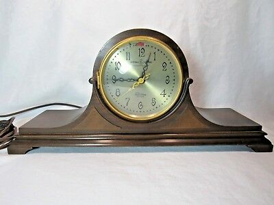 Telechron General Electric Westminster Chime Electric Mantle Clock Mahogany Case