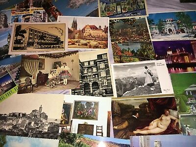 Huge Postcard Lot 284 Vintage Picture Linen RPPC Novelty Holiday Foreign Unused
