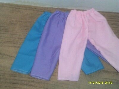 "18"" doll clothes-fit American Girl Boy My Life-Lot of  3 Pants-Purple Pink Blue"