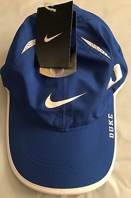 separation shoes 490b4 723e5 ... switzerland duke blue devils nike ncaa featherlight running cap hat nwt  royal blue white 31a2a 178df
