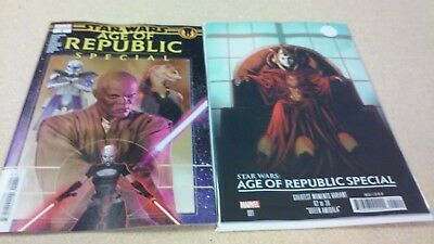 2 comic lot 2019 Star Wars Age of Republic Special # 1 Regular & Variant Covers