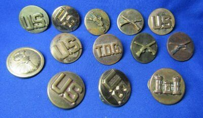 Pre-WWII & WWII Army TDG, ROTC, Armored Cavalry Enlisted Discs Lot Of 13