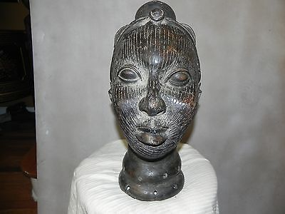 "Arts of Africa - Rare Queen Mother Sculpture - Benin - 17"" Height x 10"" Wide"