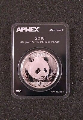 2018 China Panda 30 gram Silver MintDirect® Single