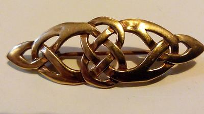 SUPER QUALITY Gold/Bronze Celtic Eternity KNOT Brooch/Pin for Scarf,Kilt/Lapel**