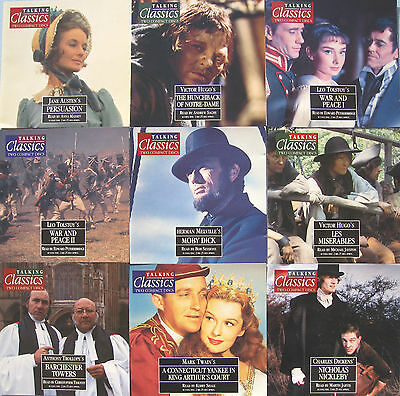 TALKING CLASSIC NOVELS x 15 TITLES 31 TO 45 ON TWIN CD'S PLUS MAGAZINES & BINDER
