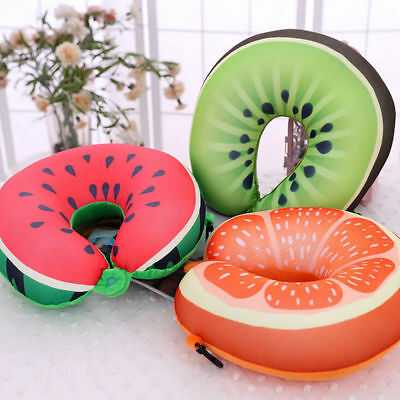 Fruit Serie Travel Pillow Cushion Neck Support Headrest Memory U-Shaped FreeShip