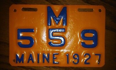 1927 maine motorcycle license plate