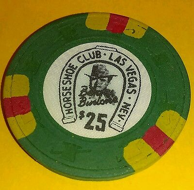 Binion's Horseshoe Casino Obsolete $25 Top Hat and Cane Mold Casino Chip