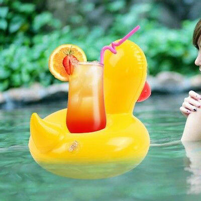Yellow Duck Inflatable Cup Holder Pool Party Drink Floats Inflatable Water Toys