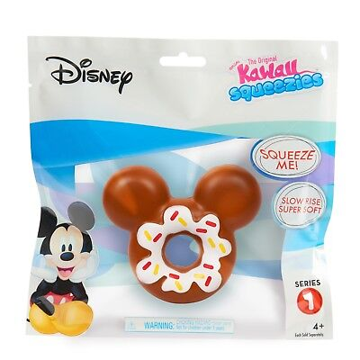 New Disney Kawaii MICKEY MOUSE EARS Sprinkles DONUT Squeezies SQUISHY Slow Rise