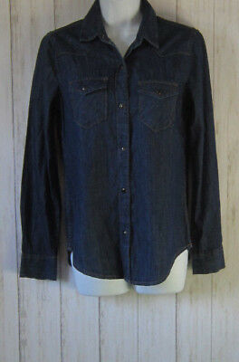 58308426798 GAP 1969 Western Denim Jean Snap Front Shirt Womens Size XS S M New Nwot