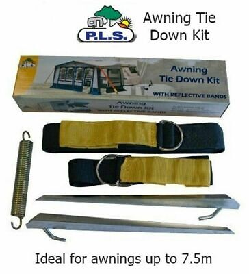 Awning Tie Down Kit for Caravan Motorhome – Black Storm Straps Over The Top