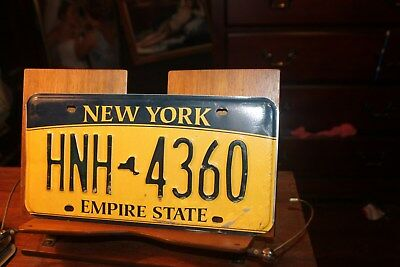 2010 New York Empire State License Plate HNH 4360