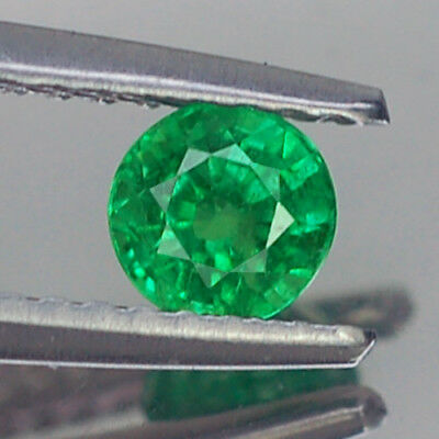 0.45Ct Awesome Vvs Round Unheated Green Tsavorite Garnet Natural