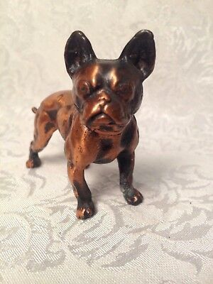 Vintage Brass / Copper French Bulldog Statue