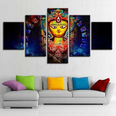Goddess Durga Mythology 5 Piece Canvas Art Wall Art Picture Painting Home Decor