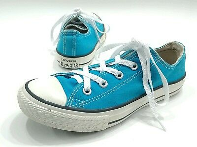 Converse All Star Sneakers Shoes low top Aqua Blue Kids Youth Size 2