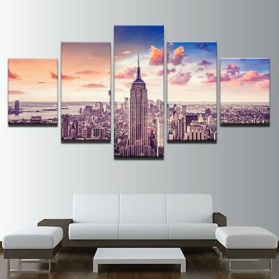 Empire State Building 5 Piece Canvas Art Wall Art Picture Painting Home Decor