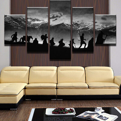 5pcs CANVAS SNOW MOUNTAIN NOMAD Wall Art Picture - Printed Picture Home Decor